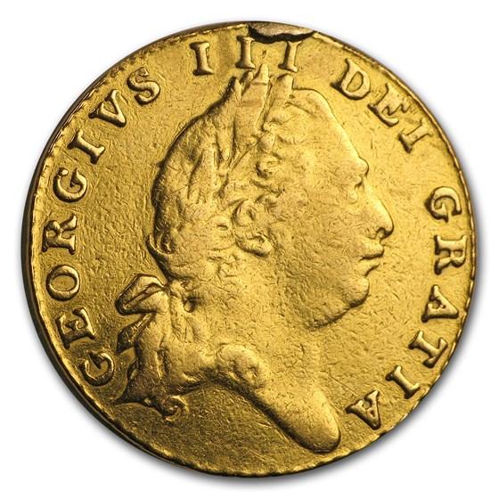 1801 Great Britain Gold 1/2 Guinea George III Fine Details