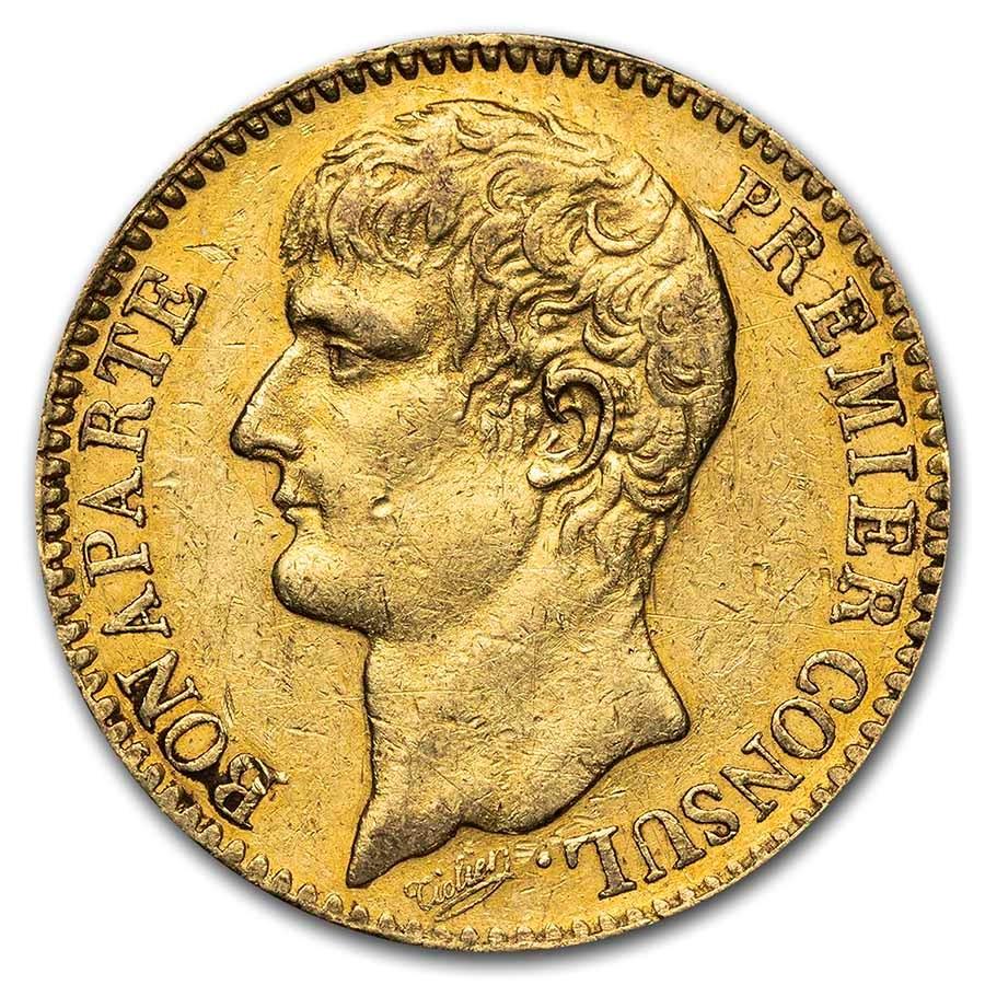 1802-1806 (AN11/AN14) France Gold 40 Francs AU