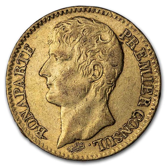 1802-1806 (AN11/AN14) France Gold 40 Francs XF