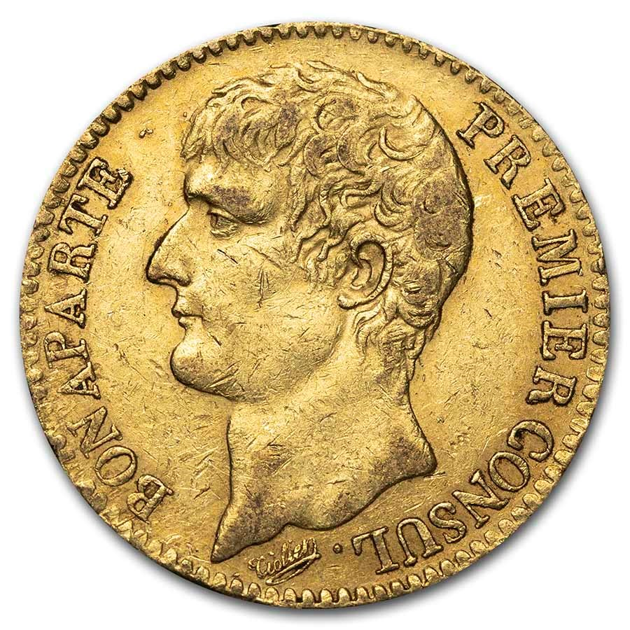 1802 AN XI France Gold 40 Francs Napoleon XF