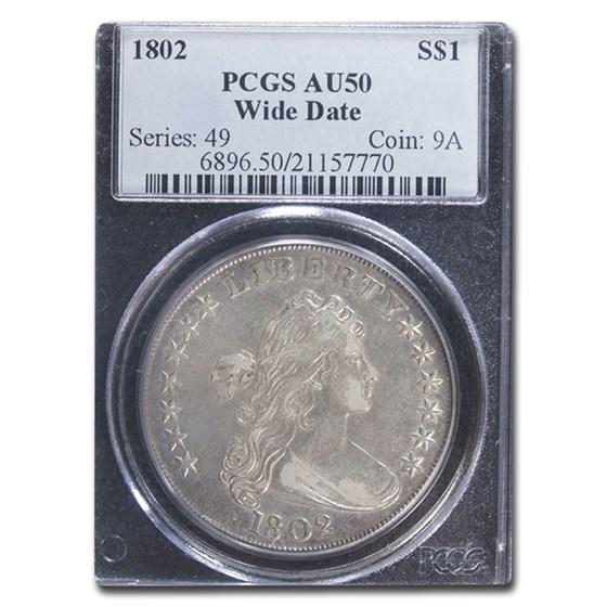 1802 Draped Bust Dollar AU-50 PCGS