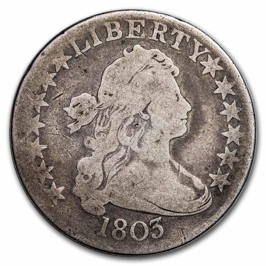 1803 Bust Half Dollar Good (Small 3)