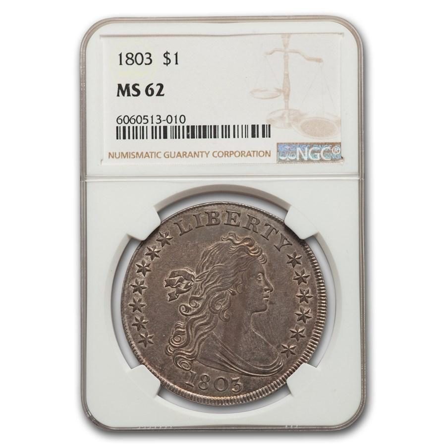 1803 Draped Bust Dollar MS-62 NGC (Large 3)