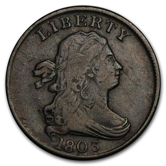 1803 Half Cent VF