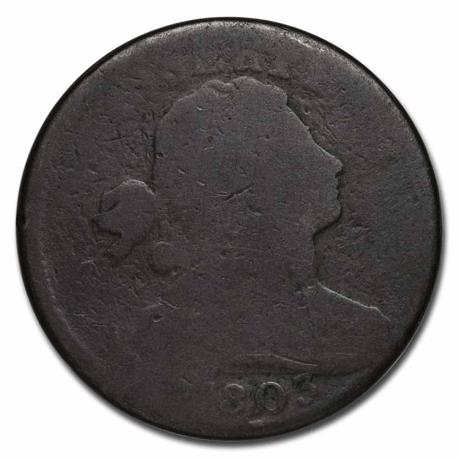 1803 Large Cent Sm Date/Lg Fraction AG