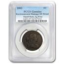 1803 Large Cent Sm Date, Lg Fraction Genuine XF Details PCGS
