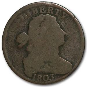 1803 Large Cent Sm Date/Lg Fraction Good