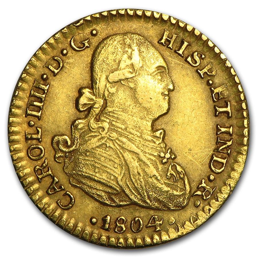 1804 Mexico Gold Escudo Charles IV AU