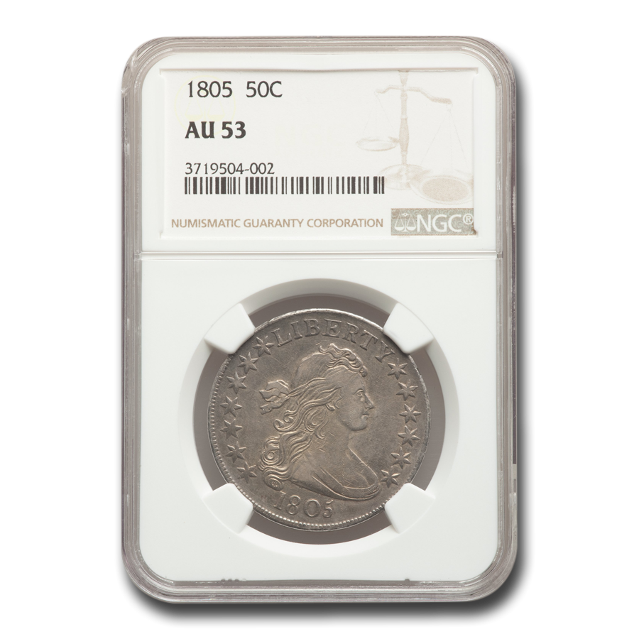1805 Draped Bust Half Dollar AU-53 NGC