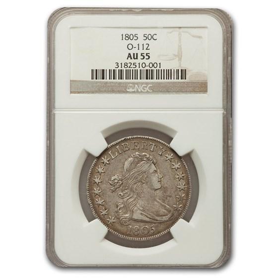 1805 Draped Bust Half Dollar AU-55 NGC (O-112)