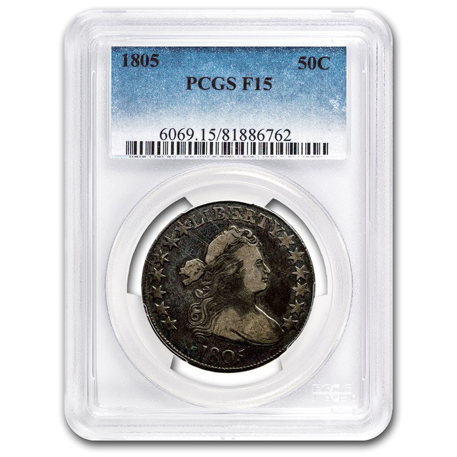 1805 Draped Bust Half Dollar Fine-15 PCGS