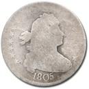 1805 Draped Bust Quarter AG Details (Holed)
