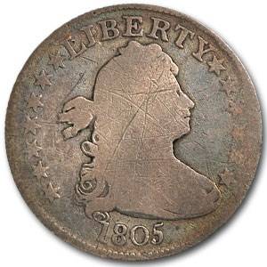 1805 Draped Bust Quarter Good Details (Scratched)