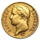 1806-1813 France Gold 40 Francs Napoleon I (Scruffy)