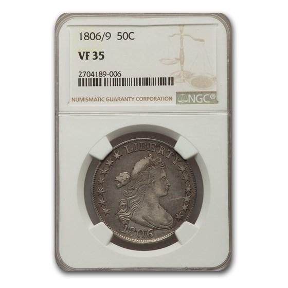 1806/9 Draped Bust Half Dollar VF-35 NGC