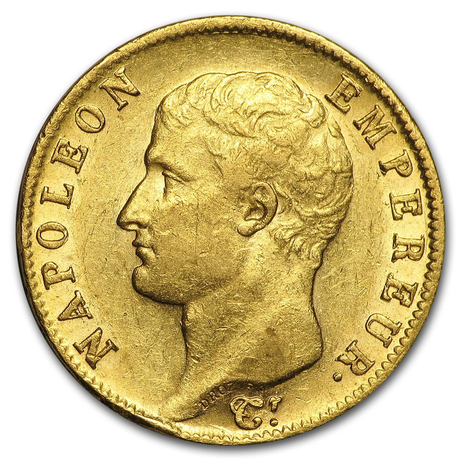 1806-A France Gold 20 Francs Napoleon I AU