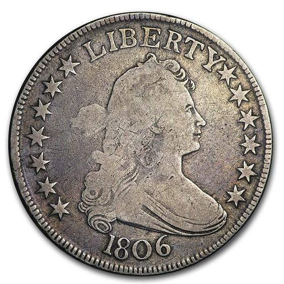 1806 Draped Bust Half Dollar Fine (Stem Thru Claw, Pointed 6)