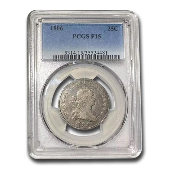1806 Draped Bust Quarter Fine-15 PCGS