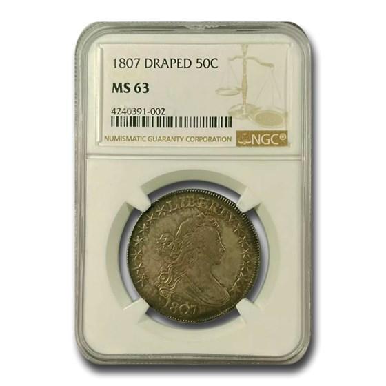 1807 Bust Half Dollar MS-63 NGC