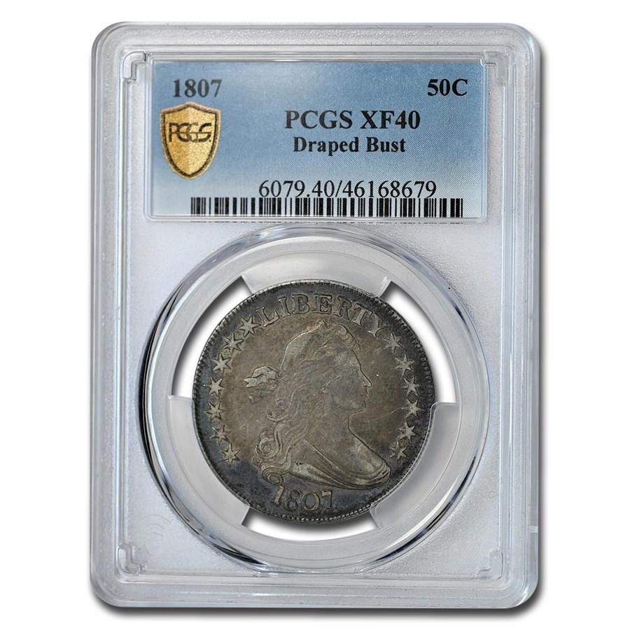 1807 Bust Half Dollar XF-40 PCGS