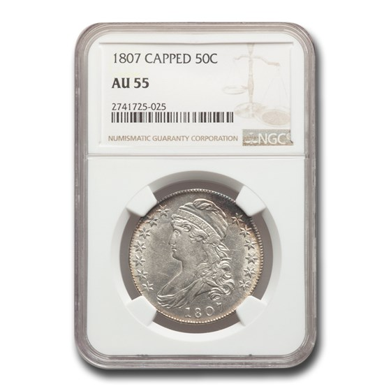 1807 Capped Bust Half Dollar AU-55 NGC