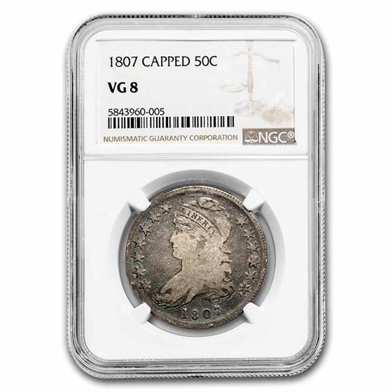 1807 Capped Bust Half Dollar VG-08 NGC