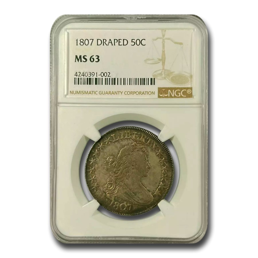 1807 Draped Bust Half Dollar MS-63 NGC