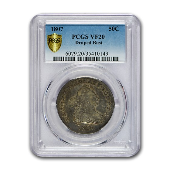 1807 Draped Bust Half Dollar VF-20 PCGS