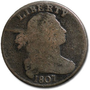 1807 Large Cent COMET Variety Good