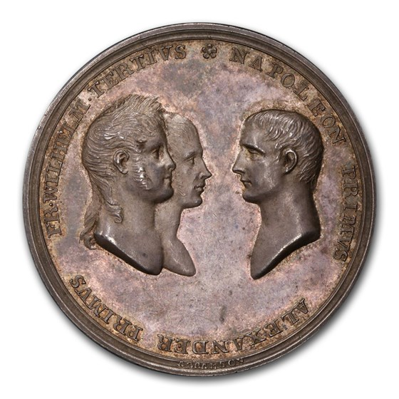 1807 Russia Silver Medal Alexander I Napoleonic Wars SP-63 PCGS