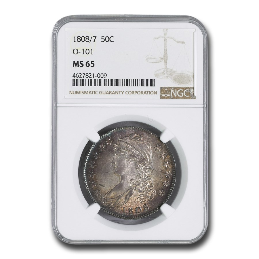 1808/7 Bust Half Dollar MS-65 NGC (O-101)