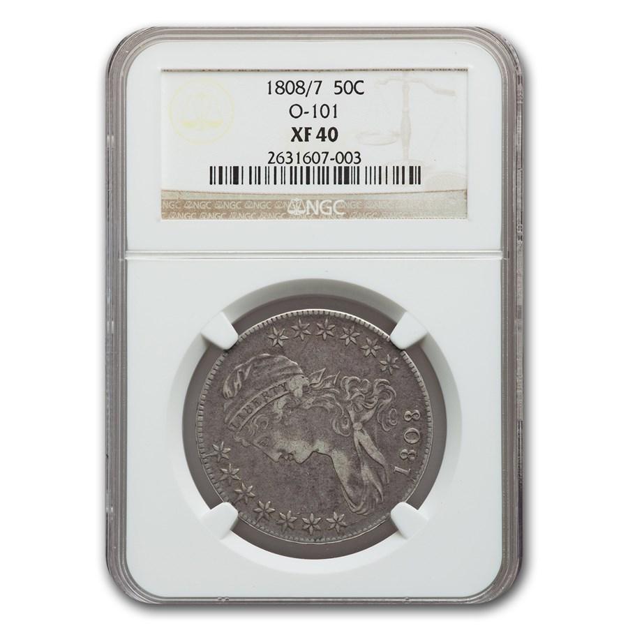 1808/7 Capped Bust Half Dollar XF-40 NGC (O-101)