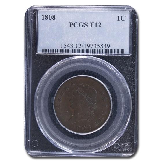 1808 Large Cent Fine-12 PCGS