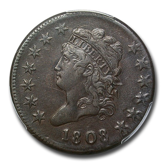 1808 Large Cent XF-40 PCGS