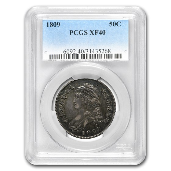 1809 Capped Bust Half Dollar XF-40 PCGS