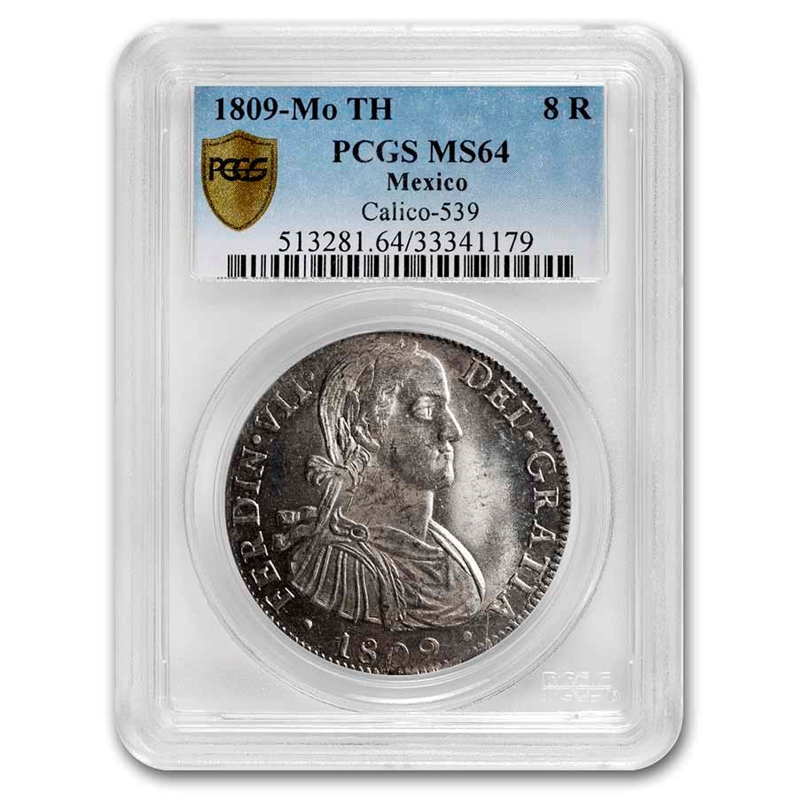 1809-Mo TH Mexico Silver 8 Reales MS-64 PCGS
