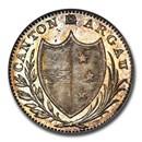 1809 Switzerland Aargau Canton 10 Batzen MS-66 NGC