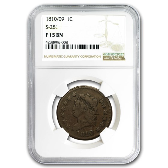 1810/09 Large Cent Fine-15 NGC