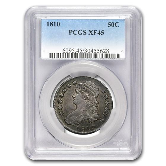 1810 Bust Half Dollar XF-45 PCGS