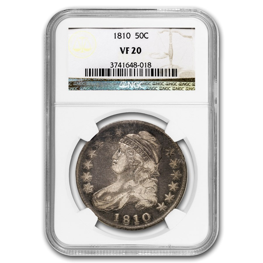 1810 Capped Bust Half Dollar VF-20 NGC