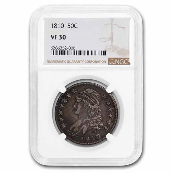 1810 Capped Bust Half Dollar VF-30 NGC