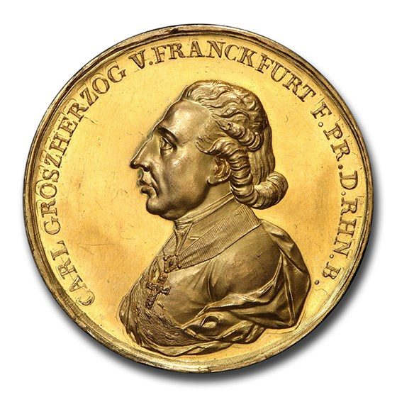 1810 Gold Medal Rhenish Confederation City View SP-62 PCGS