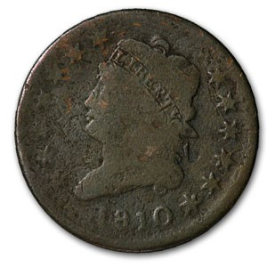 1810 Large Cent Classic Head Good