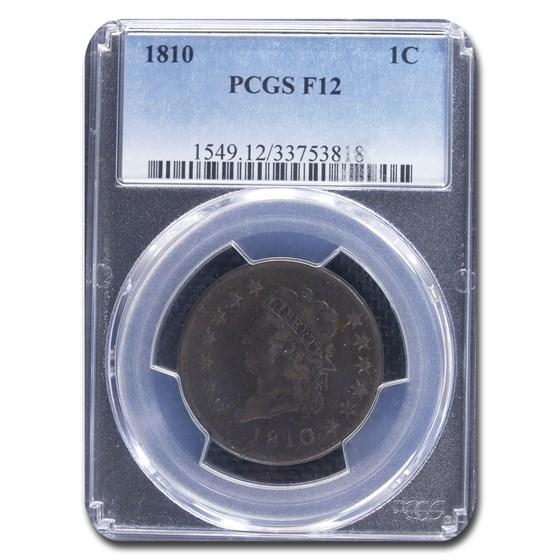 1810 Large Cent Fine F-12 PCGS