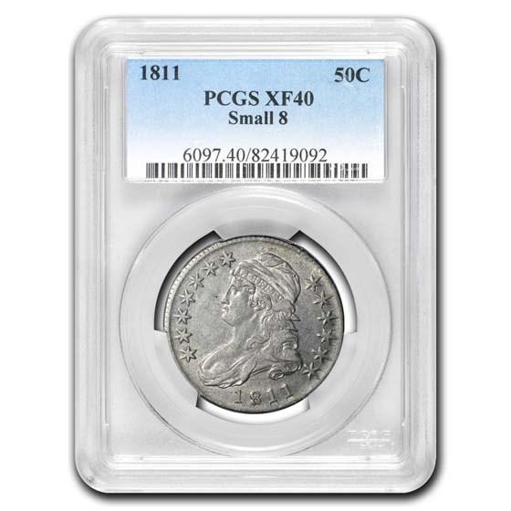 1811 Bust Half Dollar XF-40 PCGS (Small 8)