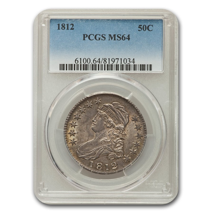 1812 Capped Bust Half Dollar MS-64 PCGS