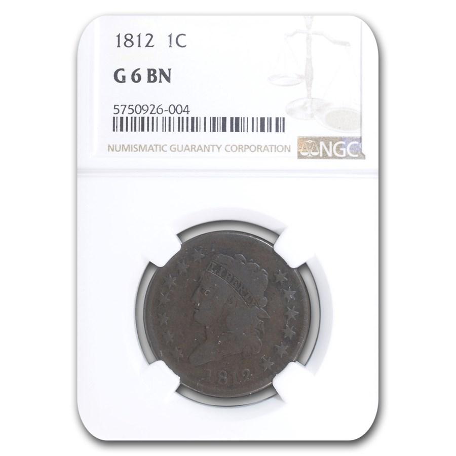 1812 Large Cent Good-6 NGC (Brown)
