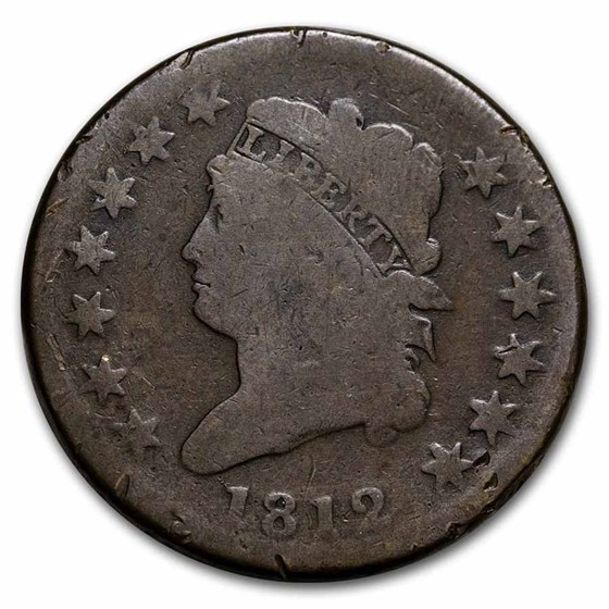 1812 Large Cent Sm Date Good