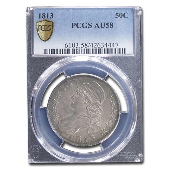 1813 Bust Half Dollar AU-58 PCGS