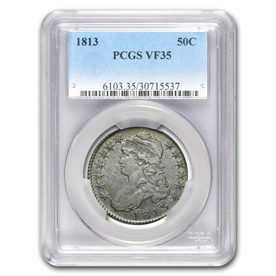 1813 Bust Half Dollar VF-35 PCGS